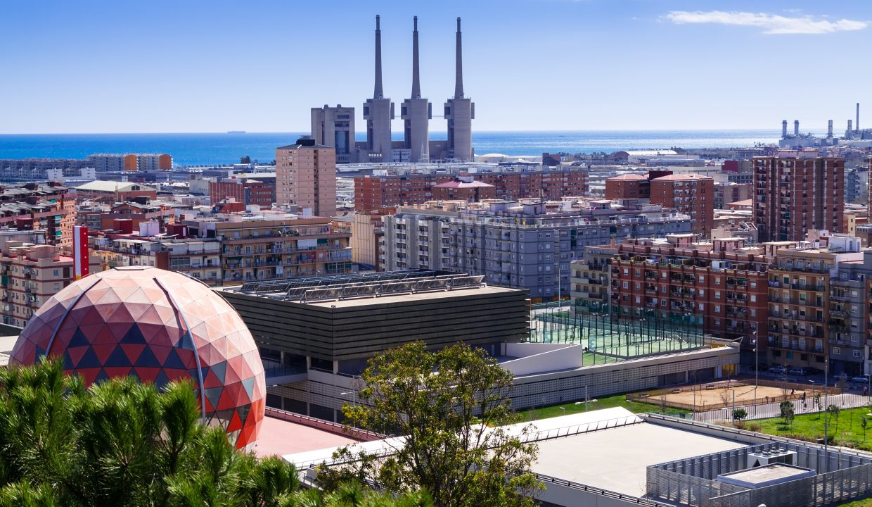 Badalona and Sant Adria de Besos. Barcelona